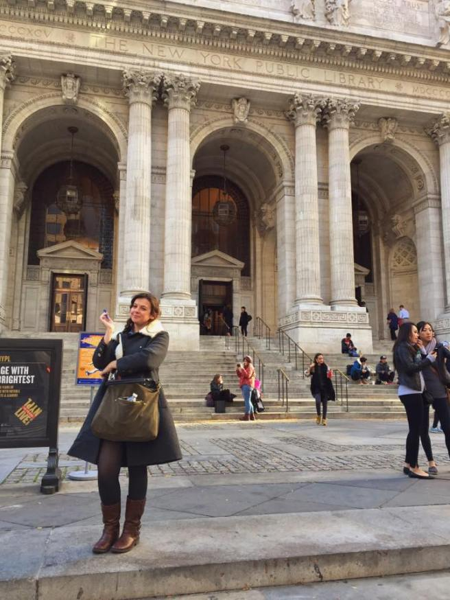 At the New York Public Library, ticking off one bucket-list item, and adding another...